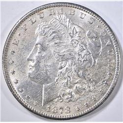 1878-S MORGAN DOLLAR, AU/BU