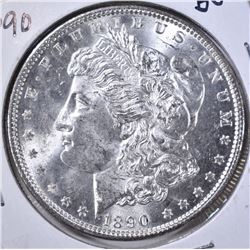 1890 MORGAN DOLLAR GEM BU