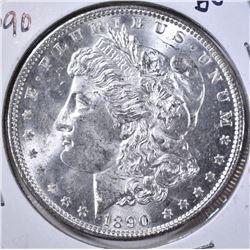 1890 MORGAN DOLLAR GEM BU