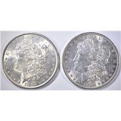 2 1896 MORGAN DOLLARS CH BU