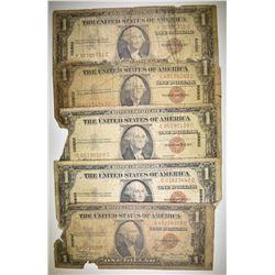 5-1935 $1.00 HAWAII SILVER SERTS LOW GRADE