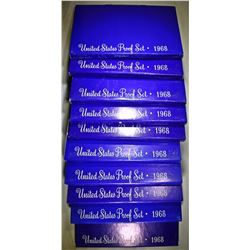 10-1968 U.S. PROOF SETS ORIG PACKAGING