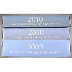 2009 & 2-2010 U.S. PROOF SETS ORIG PACKAGING