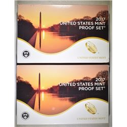 2-2017 U.S. PROOF SETS ORIG PACKAGING