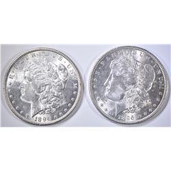 2-CH BU 1896 MORGAN DOLLARS