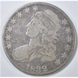 1832 BUST HALF DOLLAR   VF SCRATCHES