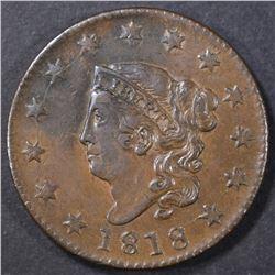 1818 LARGE CENT  BU
