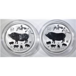 2-2019 1oz SILVER  AUSTRALIAN YEAR OF THE PIG