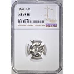1941 MERCURY DIME, NGC MS-67 FB