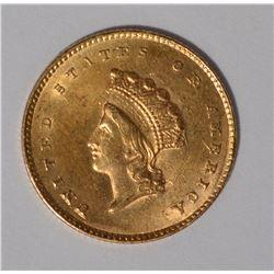 1855 $1 GOLD TYPE 2 CH BU