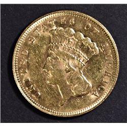 1878 $3 GOLD BU