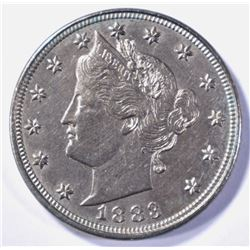1883 LIBERTY HEAD NICKEL WITH CENTS  CH BU