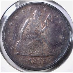 1875 20 CENT PIECE AU MARKS ON OBV
