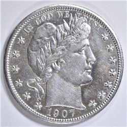 1907 BARBER HALF DOLLAR BU
