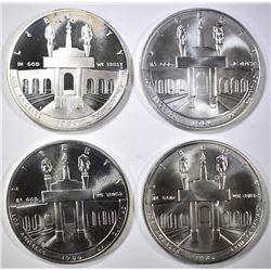 1984-P-D-S UNC & 84-S PROOF OLYMPIC COMMEM DOLLARS