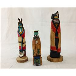 Group of Three Hopi Kachinas