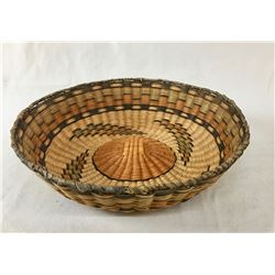 "Vintage Hopi Wicker ""Peach"" Basket"