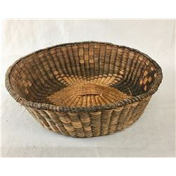 "Figural Hopi Wicker ""Peach"" Basket"