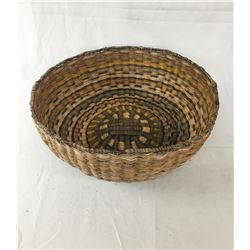 "Large Vintage Hopi Wicker ""Peach"" Basket"