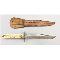 E.M. Dickinson Stag Handle Knife with Sheath