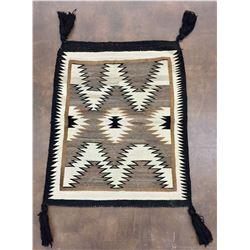 Vintage Navajo Textile - Tasseled Saddle Blanket