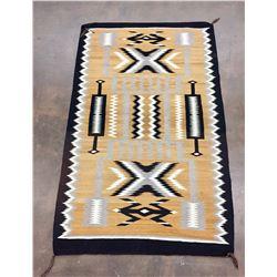 Vintage Navajo Storm Pattern Textile