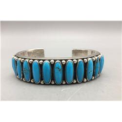 13 Stone Heavy Navajo Bracelet