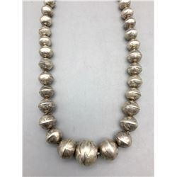 Sterling Silver Bead - Navajo Pearl Necklace