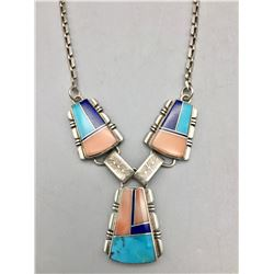 Navajo Channel Inlay Necklace