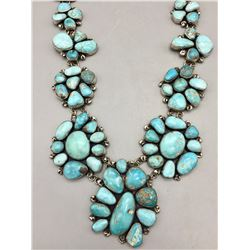 Statement Piece! Turquoise Cluster Necklace