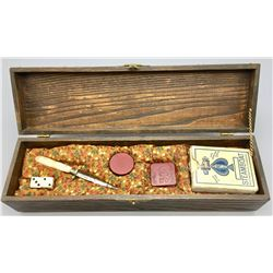 Gentleman's Gambling Box with contents