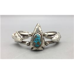 Unique Sterling Silver and Turquoise Bracelet