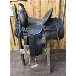 Antique Victor Marden High Back Saddle