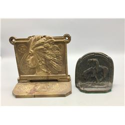 Early Brass and Bronze Book Ends