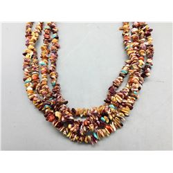 Multi-stone Four Strand Necklace