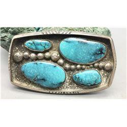 Bisbee Bob Turquoise Belt Buckle