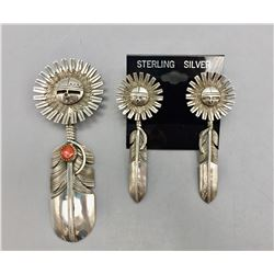 Kachina Design Pendant and Earring Set
