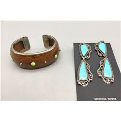 Unique Bracelet and Earrings