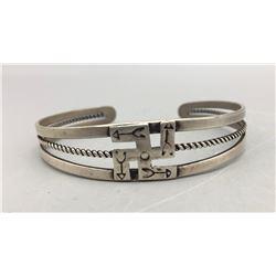 Pre WWII Whirling Logs Bracelet