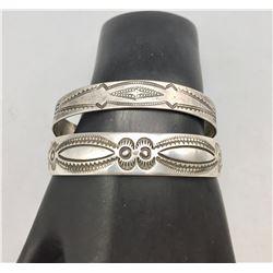 Two Vintage Sterling Silver Bracelets
