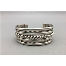 Sterling Silver Navajo Bracelet - Tahe