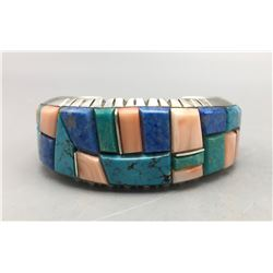 Multi-Stone Navajo Inlay Bracelet - Yellowhorse