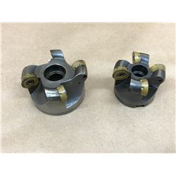 (2) VALENITE 539.11.202 & 539.11.200 INDEXABLE FACE MILL