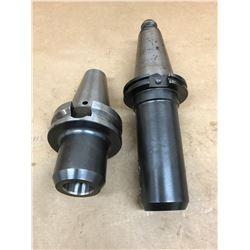 (2) VALENITE BT50-A137 & V50CT-E100L CAT 50 TOOL HOLDER