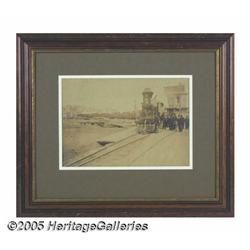 President Abraham Lincoln Funeral Train Framed Ph