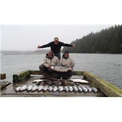 5-day/6-night Alaska Fishing Trip for Halibut, Salmon and Rockfish for One Angler