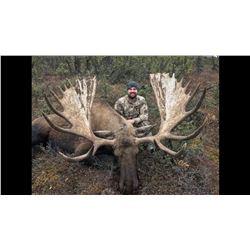 7-day Alaska Moose Hunt for One Hunter and One Observer