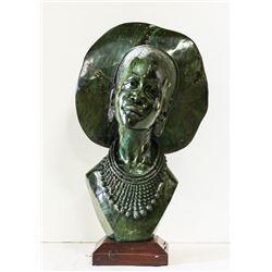 Green Verdite Sculpture
