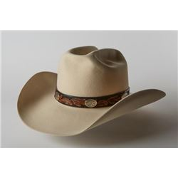 Custom-made Felt Hat with Hatband and 14K Gold Conchos