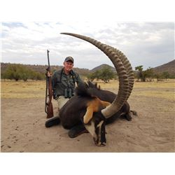 7-day South Africa Gold-Medal Sable Hunt for One Hunter and One Observer